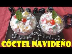CÓCTEL DE FRUTAS Y GELATINA, NAVIDEÑO (FRUIT COCTAIL) - YouTube