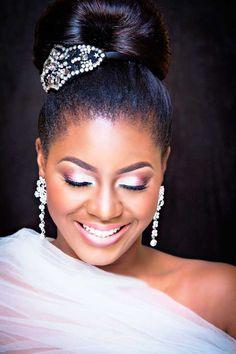 Black Women Wedding Hairstyles ❤ See more: http://www.weddingforward.com/black-women-wedding-hairstyles/ #weddings