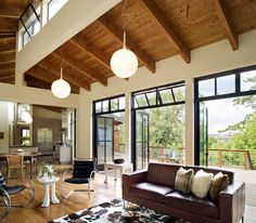 Gustave Carlson Design - Modern Barn How the clerestory/transom windows look from the inside.