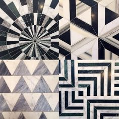 """""""Super new . 2015 Coastal Living Trendsetter Kelly Wearstler just debuted her first tile collection for Ann Sacks at the Kitchen & Bath Show in Las…"""" Más Floor Patterns, Tile Patterns, Textures Patterns, Floor Design, Tile Design, Design Design, Floor Ceiling, Kelly Wearstler, Marble Pattern"""