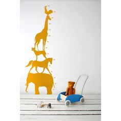 Animal tower wall sticker