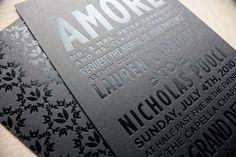Black on Black foil stamping | Designer: Benign Objects