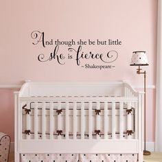 She is fierce Wall Decal - though she be but little - by StephenEdwardGraphic, $33.00