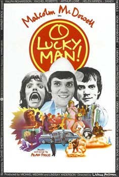 """MP321. """"O Lucky Man!"""" Movie Poster by Phillip Castle  (Lindsay Anderson 1973) / #Movieposter"""