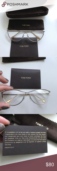 Tom Ford Prescription Frames Cateye Frames Authentic Tom Ford Frames. I bought them to get prescription lenses but never used them. They are never been used still with original lenses. Can be used as perfect reading glasses.. Tom Ford Accessories Glasses