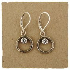 Oxidized White CZ Collection Earrings