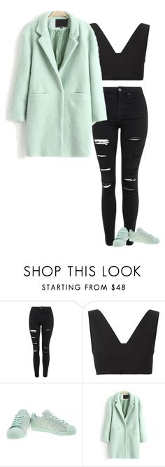 """""""3"""" by marcabaceira on Polyvore featuring Topshop, T By Alexander Wang, adidas and WithChic"""