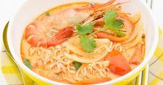 Recette de Soupe de crevettes au basilic et à la citronnelle. Facile et rapide à réaliser, goûteuse et diététique.
