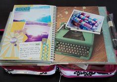 On the Go Travel Smash Book Kit - iowajewels collage treasures