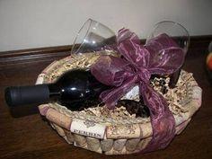 Wine Cork Gift Basket/Bread Basket