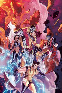 The X-Men for Marvel Italia 20th Anniversary by Jacopo Camagni, colours by Sebastian Dell'Aria *