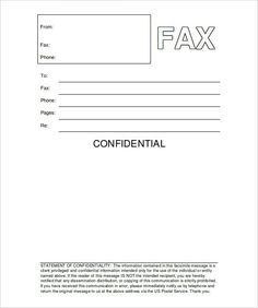 Blank Fax Cover Sheet Template General Resume Cover Letter Generic Cover Letter General Cover .