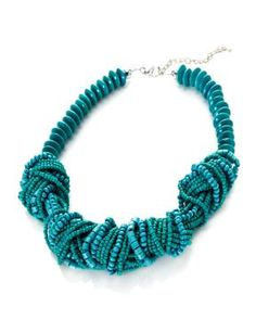 twisted seedbead necklace | Shop Online at Addition Elle #AdditionElleOntheRoad Addition Elle, Turquoise Bracelet, Nice, Makeup, Shop, Summer, Hair, Accessories, Jewelry