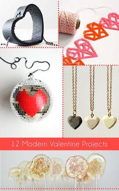 12 Modern Valentine DIY Projects - Dream a Little Bigger