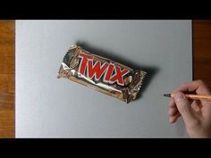 Hyperrealistic speed drawing of a Twix bar - YouTube