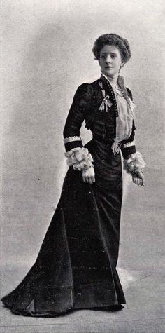 1901 March, Les Modes Paris - Town dress by Maison Lafferrière