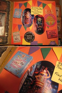 Weasleys Joke shop Harry Potter scrapbook