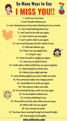 I Miss you Quotes: 30 Romantic Ways to S English Learning Spoken, Teaching English Grammar, English Writing Skills, English Language Learning, English Lessons, French Lessons, German Language, Spanish Lessons, Japanese Language