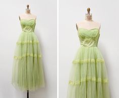 vintage 1950s dress / 1950s prom dress / 50s by cutxpaste on Etsy