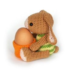 Get Ready for Easter With These 25 Crochet Patterns: Bunny Egg Cup Easter Crochet Pattern