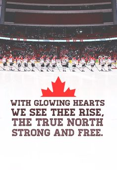 Singing along with Oh, Canada is my favorite part about going to Avs games against Canadian teams.
