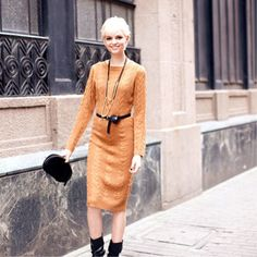 2012 Fall New Arrivals Long Style Knit Long Sleeve One-piece Dress