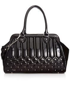 Carlos by Carlos Santana Handbag, Laura Frame Satchel with Studs - Satchels - Handbags & Accessories - Macy's