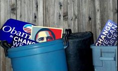 Time to take out the trash.    # political politics obama romney