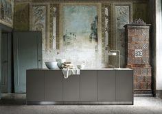 Contemporary kitchen / stainless steel / aluminum / laminate - DIVERSITY - Bulthaup