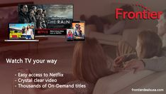 Get access to top entertainment and endless channel selection with Frontier TV. You Now, You Got This, Easy Access, Netflix, Channel, Entertainment, Good Things, Tv, Best Deals