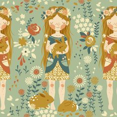 Fort Firefly Fabric Collection by Teagan White, via Behance