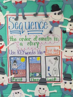 Our comprehension skill this week is sequence. I decided to use a familar text to teach this and Humpty Dumpty fit perfectly! We read the po...
