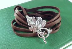 Leather multi wrapped with toggle closure by EarthMotherJewels