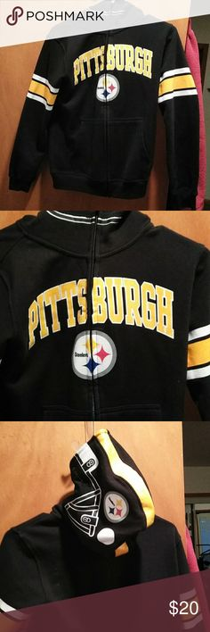 Pittsburgh Steelers kid size football hoodie Black and Gold Official NFL  Pittsburgh Steelers football hoodie 37b8584e7