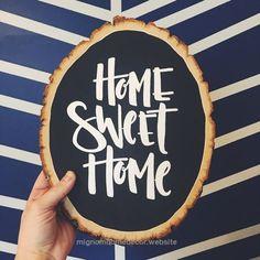 Home Sweet Hom Sign Chalkboard Chalk Board 30 Ideas Wood Slice Crafts, Wood Crafts, Decor Crafts, Painted Signs, Wooden Signs, Sweet Home, Wood Home Decor, Idee Diy, Chalkboard Signs