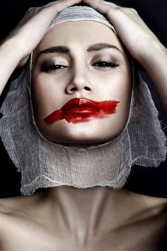 Photoshoot concept, colors of fire, weird fashion, lip service, beauty phot Fashion Makeup Photography, Body Art Photography, Portrait Photography, Makeup Art, Lip Makeup, Fridah Kahlo, Photoshoot Concept, Weird Fashion, Lip Service