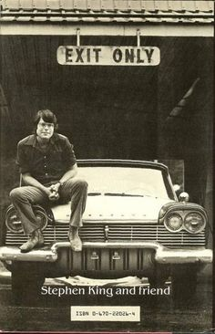 Stephen King and friend