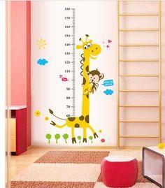 Kids Height Chart Wall Sticker home Decor Cartoon Giraffe Height Ruler #Unbranded #Cartoon