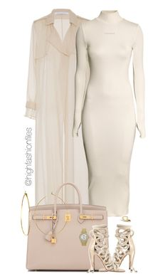 """Untitled #2769"" by highfashionfiles ❤ liked on Polyvore featuring Sally Lapointe, H&M, Hermès, Phyllis + Rosie, Maiyet, Rolex and Sydney Evan"