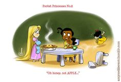 And must learn to communicate for faux pas prevention. | What If The Disney Princesses All Lived Together?