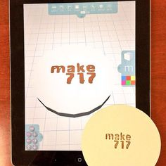 Demoed Morphi yday @make717pa #makerspace +met with educators in #Lancaster PA to discuss #makerEd and #STEAM. Many thx! This 3D model was made in Morphi using the experimental camera button in the draw tool. We took a picture of a letter pressed coaster and made a printable 3d model in Morphi in less than 2 minutes. #3dprinting #3dmodel #3dprint #3dprinted #3dprinter