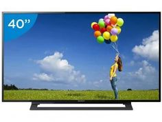 "TV LED 40"" Sony KDL-40R355B Full HD - Conversor Integrado 2 HDMI 1 USB"