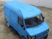 Mercedes-Benz TN 210 D Van Paper Model Free Template Download  This vehicle paper model is a Mercedes-Benz 210 D, a variant of the Mercedes-Benz TN, which was a new van/truck (a.k.a. transporter) series, the...