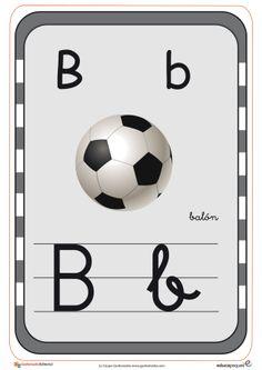 Tarjetas del abecedario para repasar las letras b