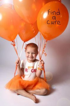 Leukemia means orange. Gold me childhood cancer. We mean find a cure ♥