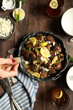 One-Pot Lamb and Spinach Meatballs with Orzo   Joy the Baker