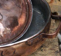 Pentola risottiera rice rotonda stagnata in rame di LaCasadelRame