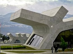 Highway rest stop in the country of Georgia by J. MAYER H. Architects