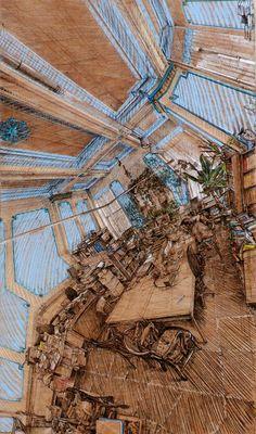 """坂井直樹の""""デザインの深読み"""": 次世代のエッシャーか? ロリック・スミスの混乱多面体パノラマとでも言うべき透視画法。よく見てください!"""