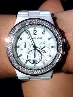 White Michael Kors Watch.